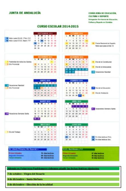 Calendario 2014-15