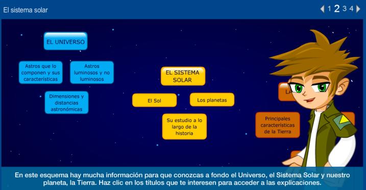 el universo y el sistema solar: