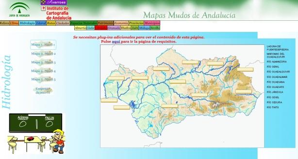 Mapas mudos de Andalucía